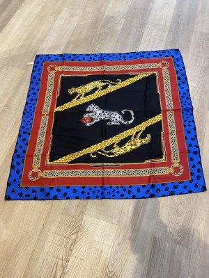 Cartier Zijden sjaal rood-blauw