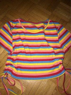 SheIn Camicia cropped multicolore
