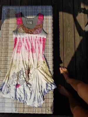 Buntes Sommerkleid Hippie Boho Bohemian Coachella A-Linien Kleid Gr S, 36