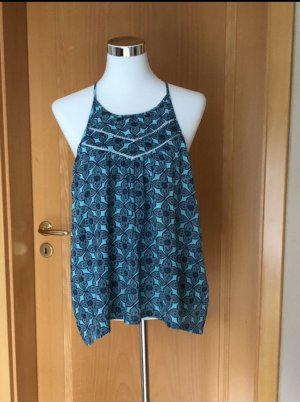 Hollister Backless Top blue-white