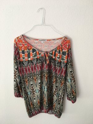 Buntes T-Shirt/Bluse mit buntem Muster