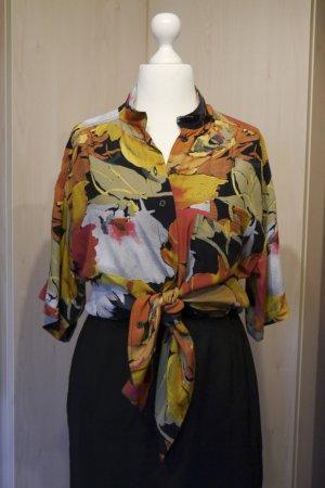 Vintage Short Sleeve Shirt multicolored viscose