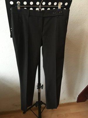 Pantalone a pieghe marrone-nero Poliestere