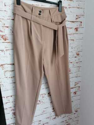 One More Story Pleated Trousers beige mixture fibre