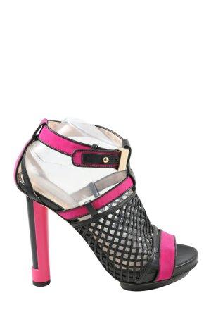 BURAKUYAN Riemchen-Sandaletten schwarz-pink Elegant