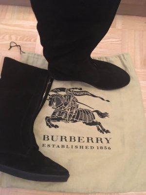 Burberry Fur Boots black