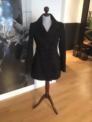 Thomas Burberry Short Coat black cotton