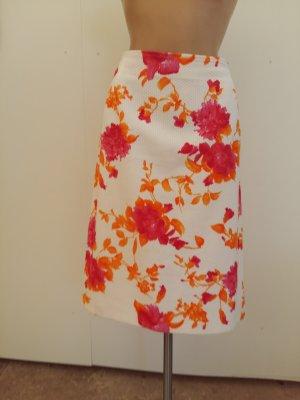 Burberry Midi Skirt white-neon red