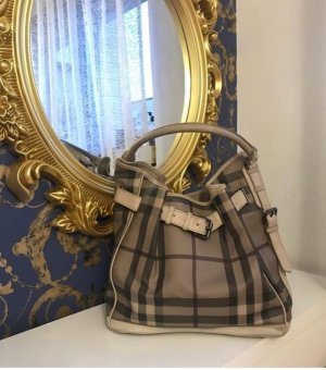 Burberry Bolsa Hobo marrón grisáceo