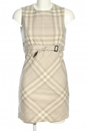 Burberry A-Linien Kleid creme-wollweiß Karomuster Business-Look