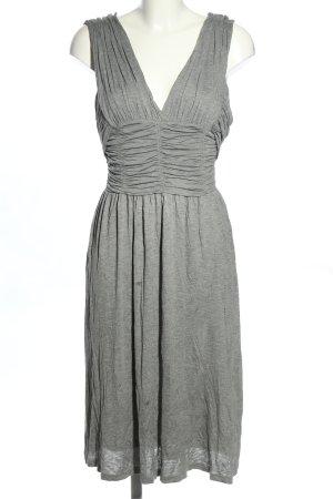 Burberry Abito linea A grigio chiaro puntinato stile casual