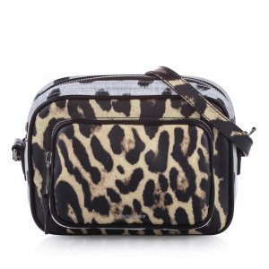 Burberry Animal Print Leather Crossbody Bag