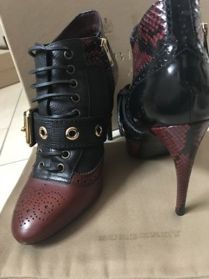 Burberry Ankle Boots black-carmine leather