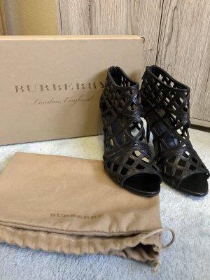 Burberry Peep Toe Booties black