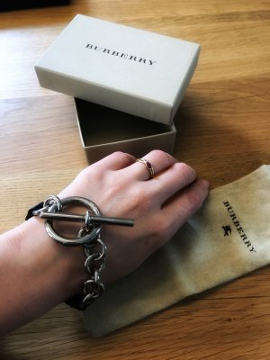 Burberry Bracelet black-silver-colored leather