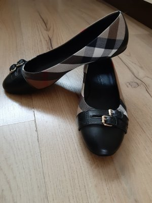 Burberry Strappy Ballerinas black-light brown