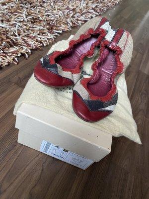 Burberry Foldable Ballet Flats carmine-beige