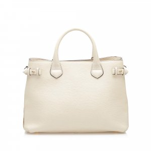 Burberry Satchel white leather