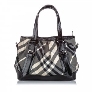 Burberry Beat Check Canvas Lowry Satchel