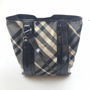 Burberry Beat Check Canvas Tote Bag