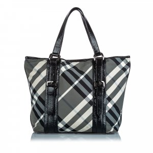Burberry Beat Check Nylon Victoria Tote Bag