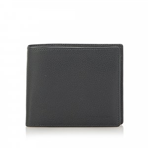 Burberry Bi-Fold Leather Small Wallet