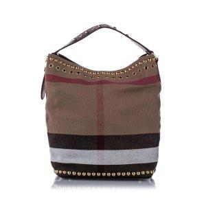 Burberry Big Check Canvas Bucket Bag