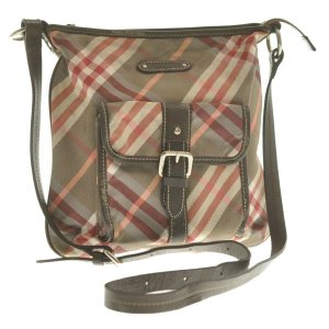 Burberry Shoulder Bag brown cotton