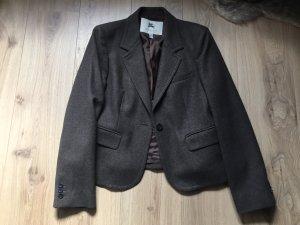 Burberry Blazer de lana marrón oscuro