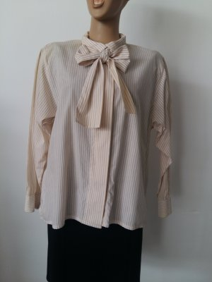 Burberrys of London Ruffled Blouse white-nude cotton