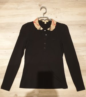 Burberry Long Sleeve Blouse black-light brown