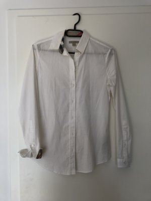 Burberry Long Sleeve Blouse white-light brown