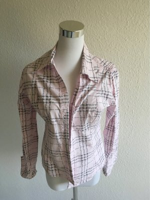Burberry Long Sleeve Blouse light pink-black