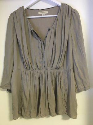 Burberry Zijden blouse grijs