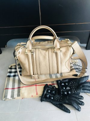 Burberry Bowling Bag oatmeal-gold-colored leather