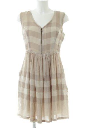 Burberry Brit A-Linien Kleid creme-wollweiß Karomuster Casual-Look