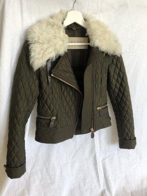 Burberry Brit Fur Jacket dark green-natural white pelt