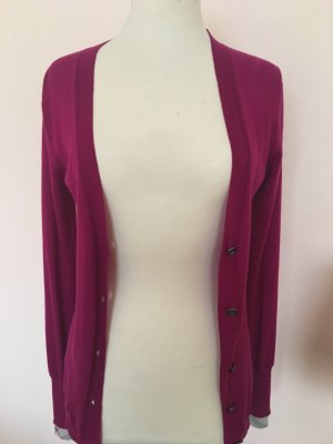 Burberry Brit Knitted Cardigan violet merino wool