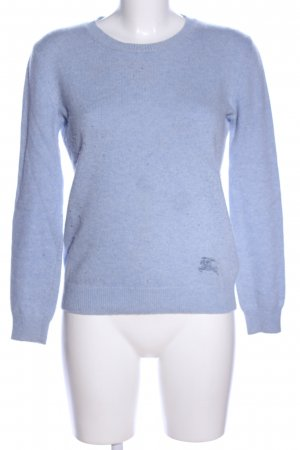 Burberry Brit Cashmere Jumper blue flecked casual look