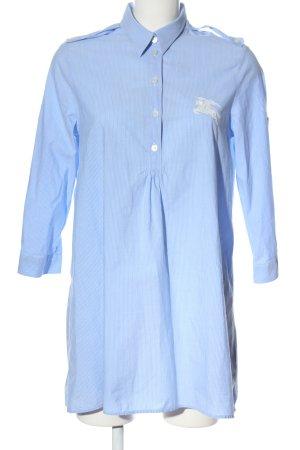 Burberry Brit Robe chemise bleu-blanc motif rayé style d'affaires