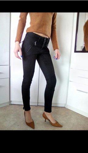 Burberry Brit Drainpipe Trousers black-silver-colored