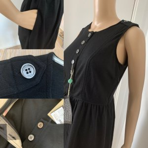 Burberry Brit Pinafore dress black-silver-colored wool