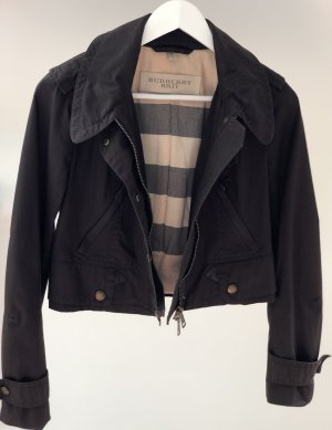 Burberry Short Jacket dark brown cotton
