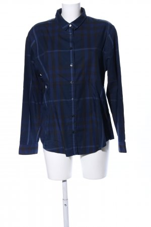 Burberry Brit Long Sleeve Shirt blue-black allover print business style