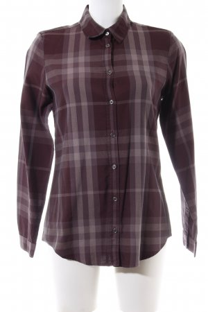 Burberry Brit Long Sleeve Shirt brown allover print business style