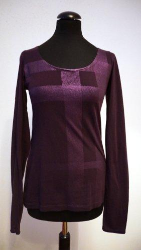 Burberry Koszulka z długim rękawem brązowo-fioletowy-ciemny fiolet Bawełna
