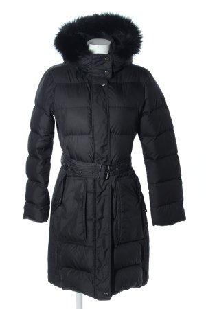 Burberry Brit Veste longue noir motif de courtepointe style décontracté