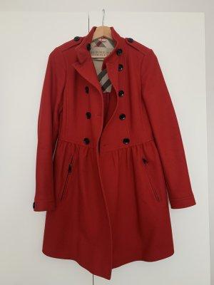 Burberry Brit Cappotto in lana rosso scuro-rosso mattone Lana