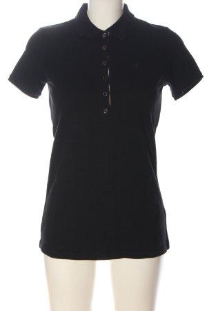 Burberry Brit Polo shirt zwart-wolwit volledige print casual uitstraling