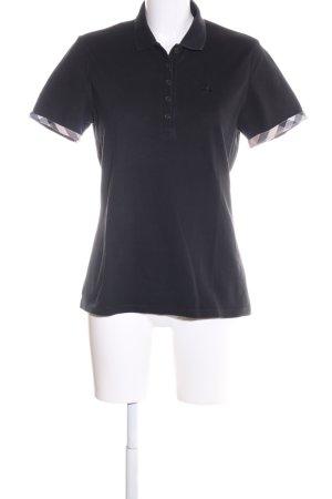 Burberry Brit Polo shirt zwart geborduurde letters casual uitstraling